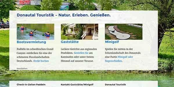 Donautal Touristik: Relaunch