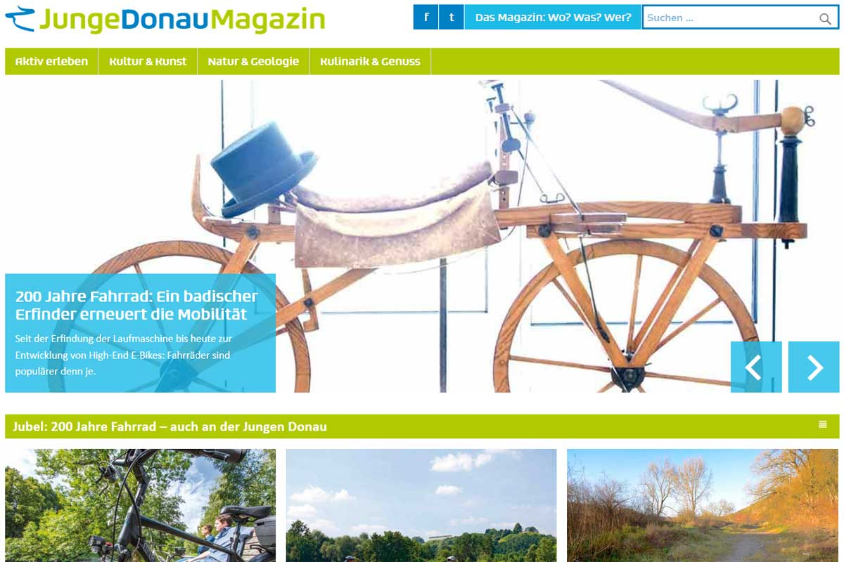 Screenshot junge-donau-magazin.de