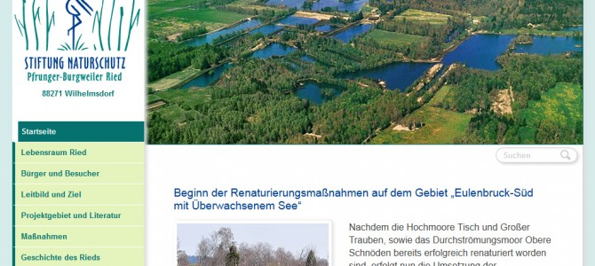 Relaunch riedstiftung.de